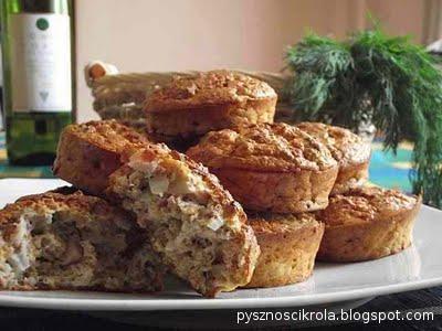 Cebulowe muffiny z otrąb