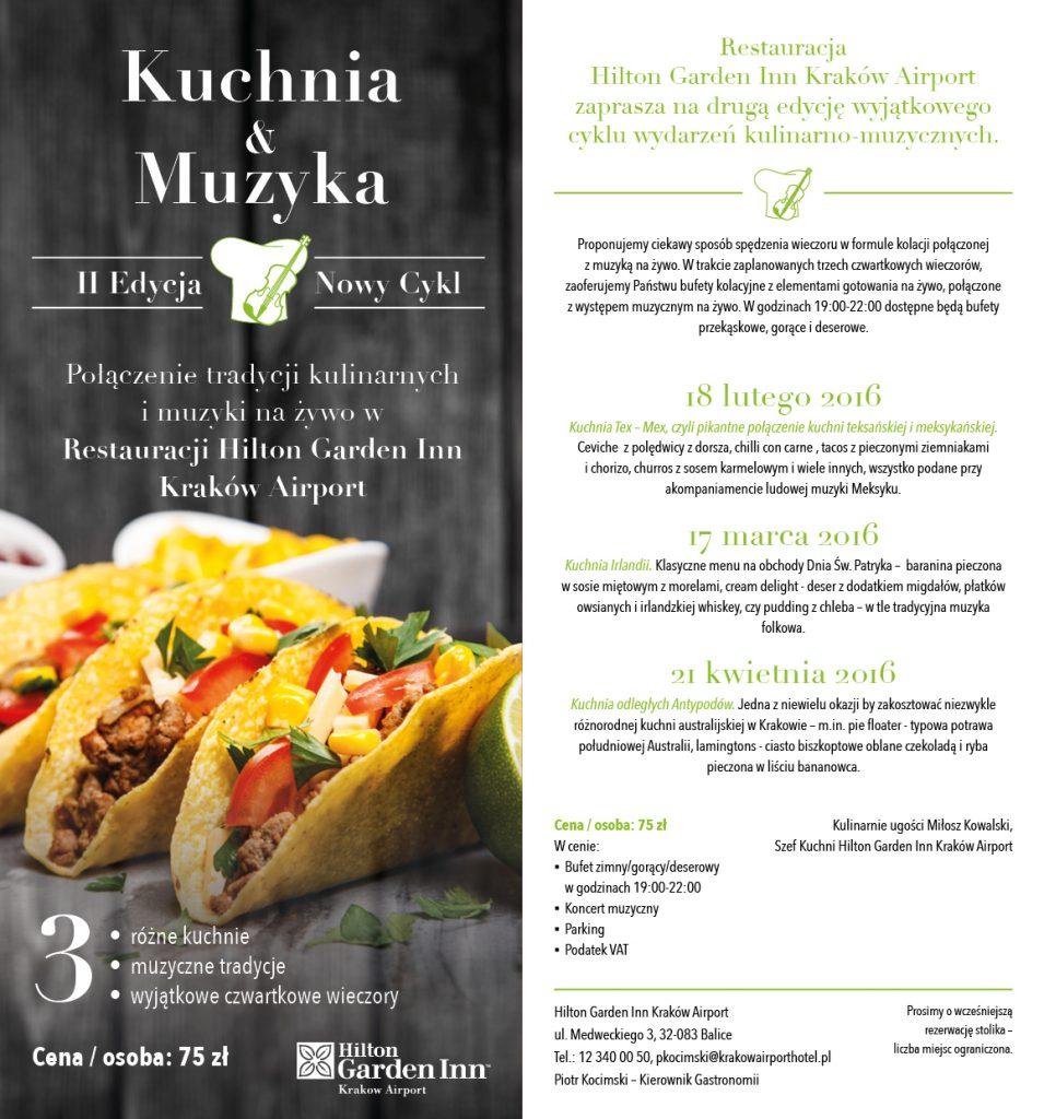 Kuchnia&Muzyka Hilton Garden Inn Kraków Airport